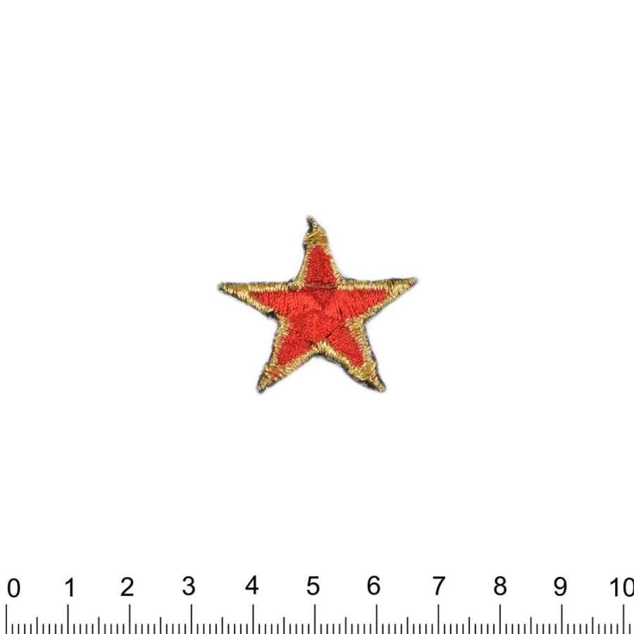 Термоаппликация Звезда 30х30см красная с золотым
