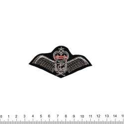 аппликация Крылья с короной, вышивка, 4х8см