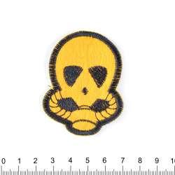 аппликация Пришелец черно-желтый, вышивка, 3,5х2,5см