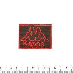 аппликация KAPPA черно-красная, вышивка, 4х6см