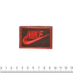 аппликация NIKE черно-красная, вышивка, 4х6см