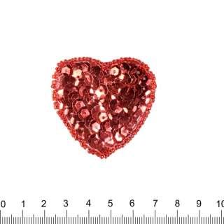 Нашивка з паєтками Серце 50х50мм