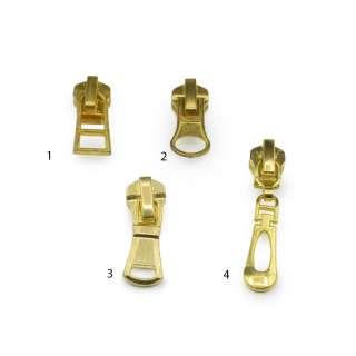 Бегунок на металлическую молнию №5 золото