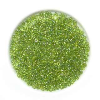 бісер зелено-жовтий асорті