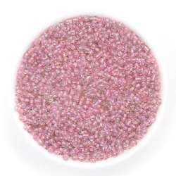 бисер розовый хамел.