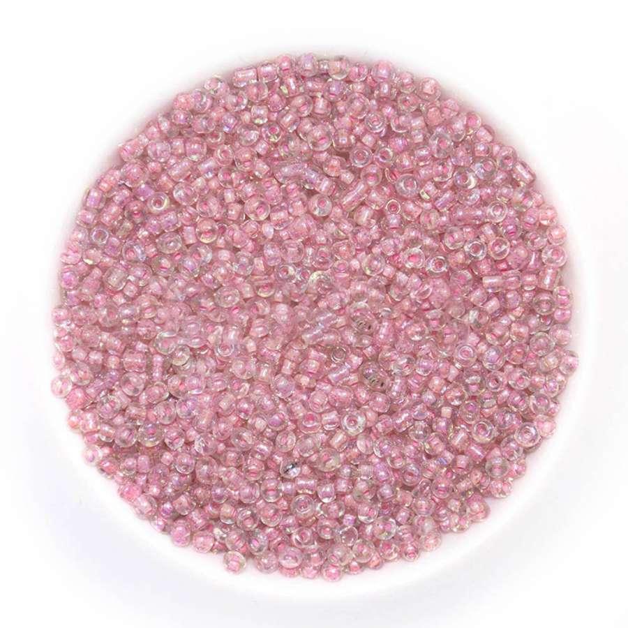 Бисер розовый хамелеон