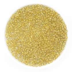 бисер золотистый
