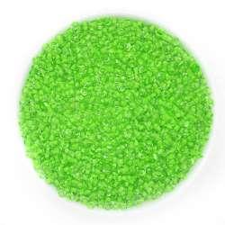 бисер ярко-зеленый