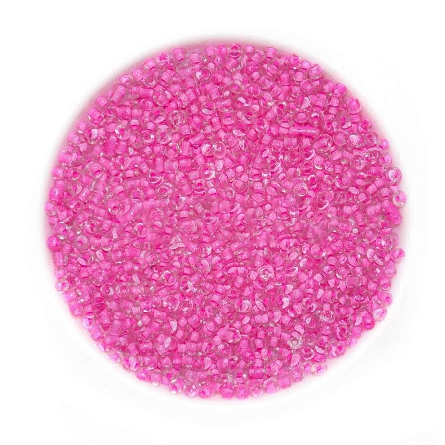 Бисер розово-малиновый