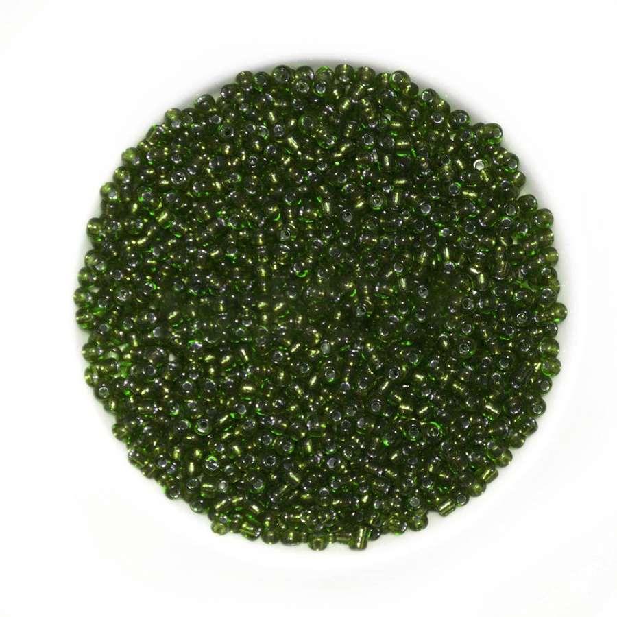 бисер темно-зеленый