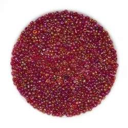 Бісер бордово-золотистий асорті