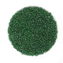 Бісер зелений з чорним відтінком
