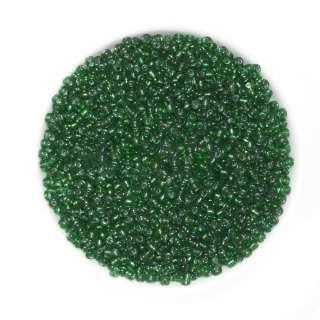 Бисер зеленый с черным оттенком