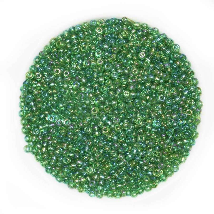 бисер зеленый хамел.