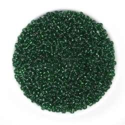 бисер т/зеленый с черным