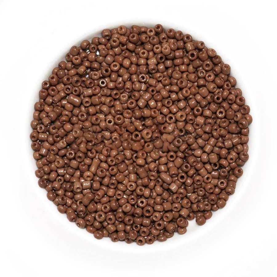 бисер коричневый