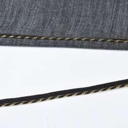 Кант встрочной золотистый на черной основе, ш.10 мм