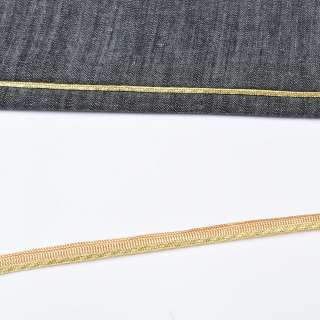 Кант встрочний золотистий на жовтій основі, ш.10 мм