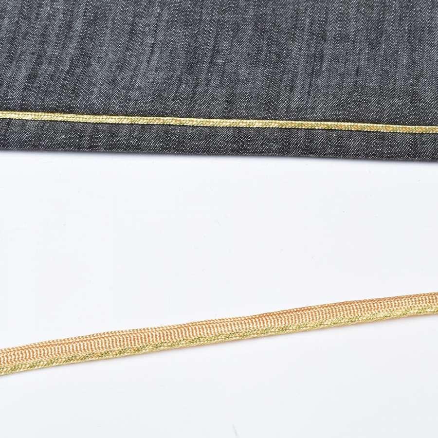 кант встрочной золотой на желтой основе, ш.10мм