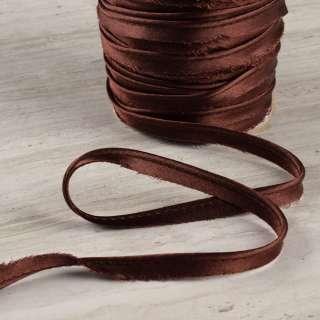 Кант атласный 11мм коричневый