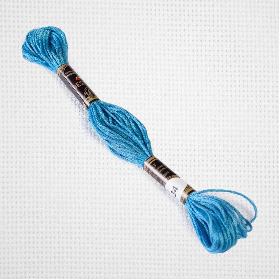 Мулине Bestex 334 8м, Нежно-голубой,ср.