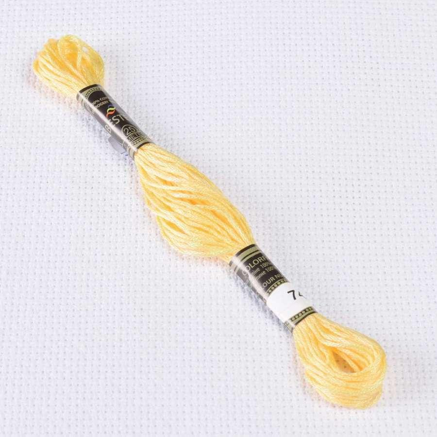 Мулине Bestex 745 8м, Желтый, бледно св.