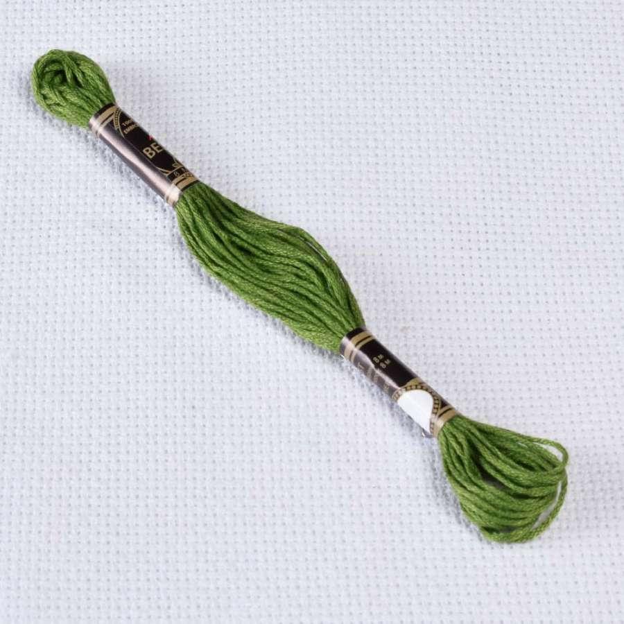 Мулине Bestex 904 8м, Зеленый попугаевый, очень тёмный