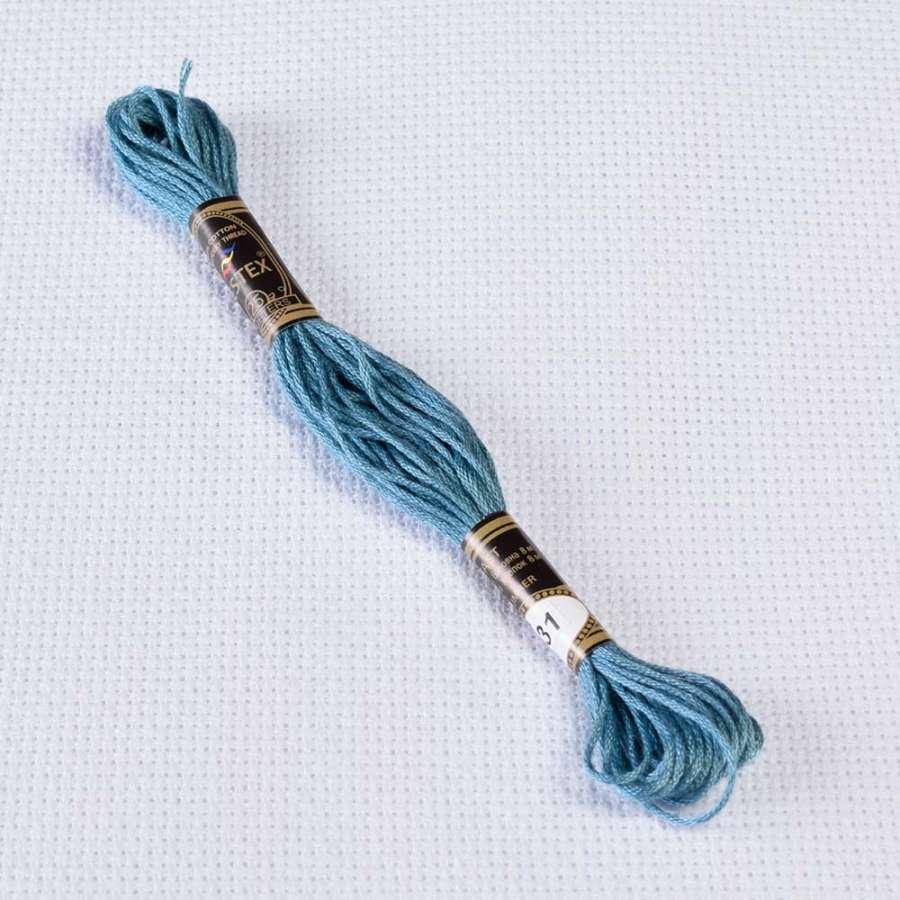 Мулине Bestex 931 8м, Античный синий, ср.