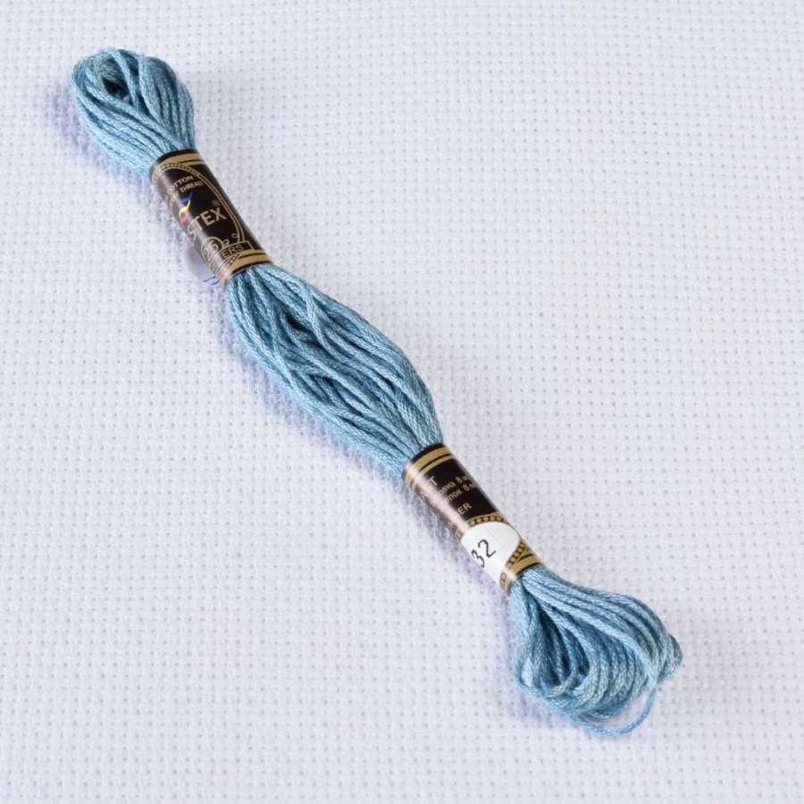 Мулине Bestex 932 8м, Античный синий, св.