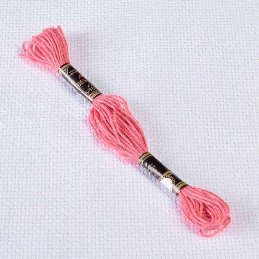 Мулине Bestex 962 8м, Пыльной розы, ср.