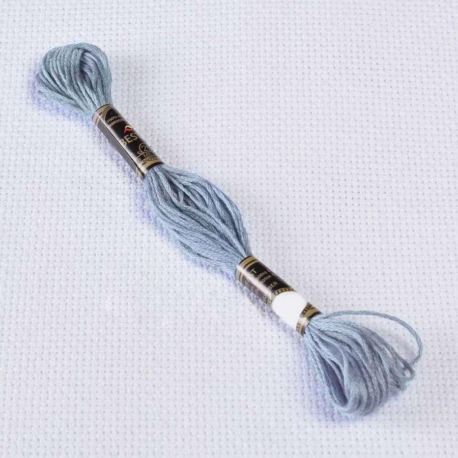 Мулине Bestex 3752 8м, Античный синий, очень светлый
