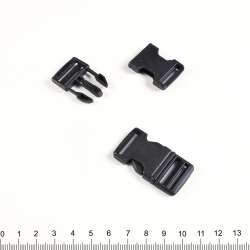 Фастекс пластик 20мм черный 47х25мм