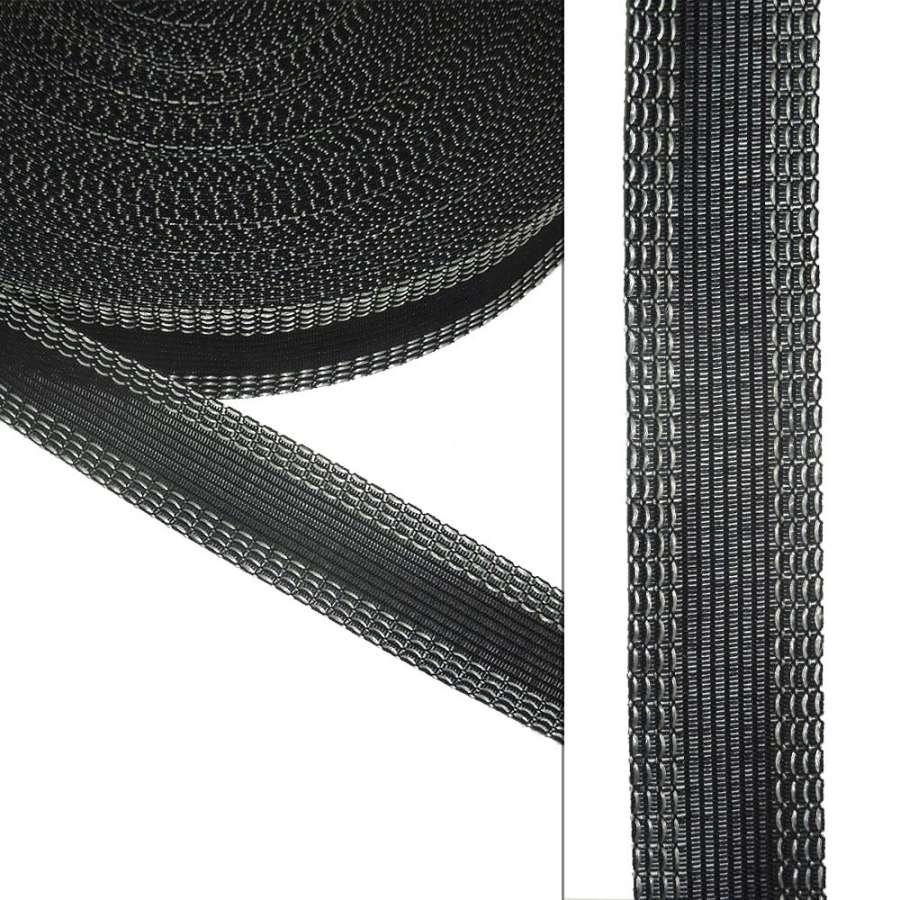 Клеевая для брюк 24мм черная