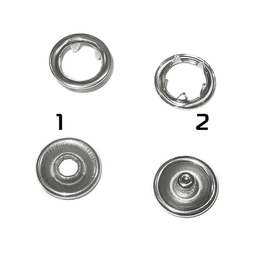 кнопка метал. перламутровая