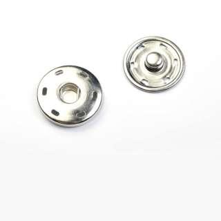 кнопка металлическая хром 30мм