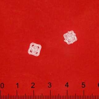Кнопка пластмассовая прозрачная №0,8, №1,0 см