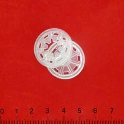 Кнопка пластмассовая прозрачная 2,5 см