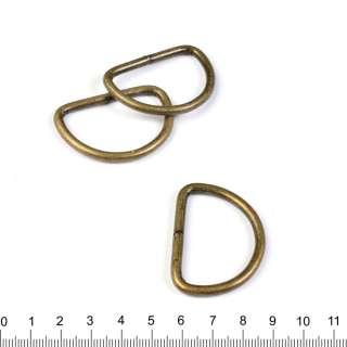 полукольцо металлическое антик 40 мм