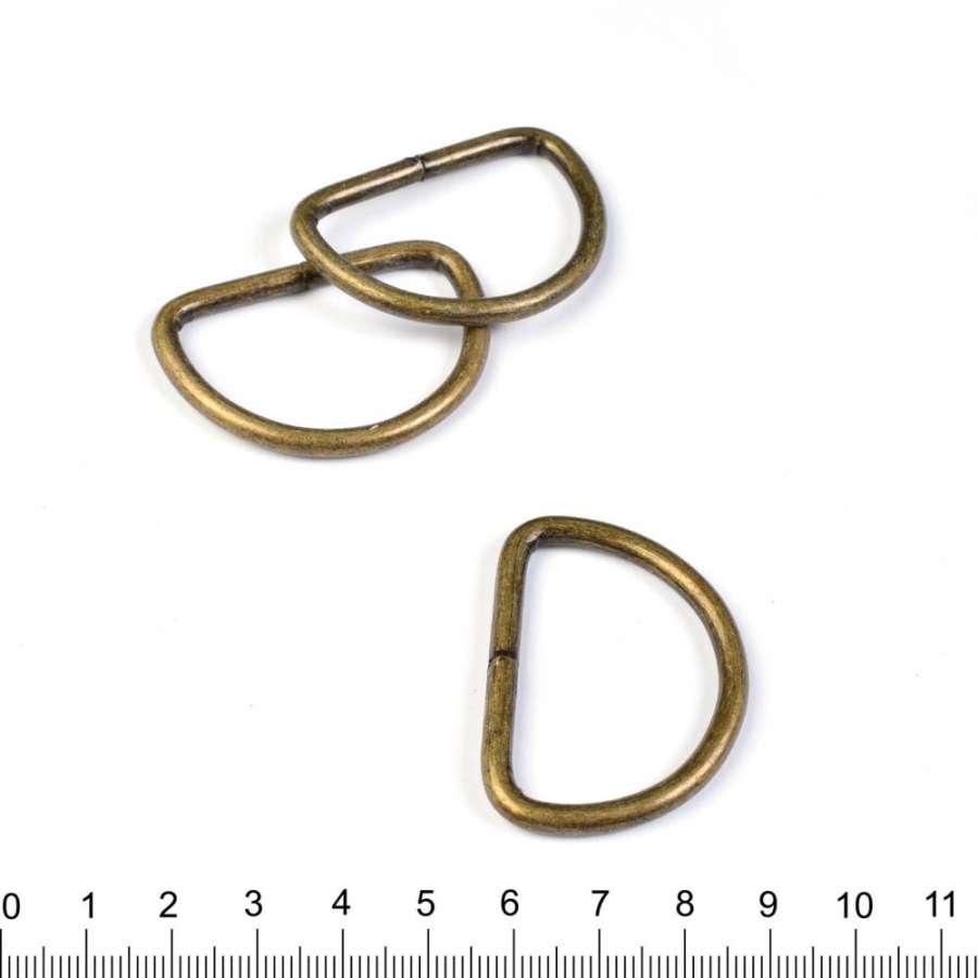 Полукольцо металл 40мм антик