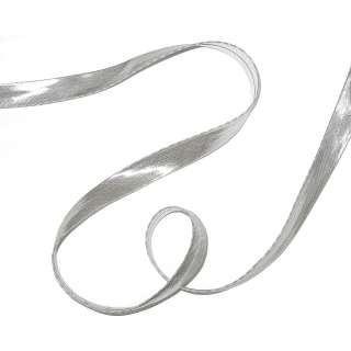 Косая бейка превая №61 серебристая