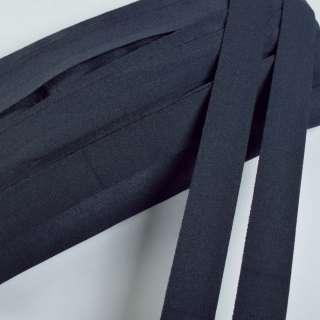 косая бейка стрейч синяя темная 20 мм