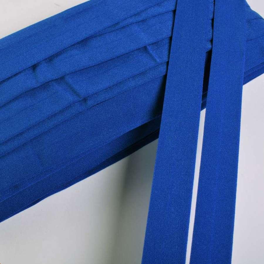 Косая бейка стрейч 20 мм ультрамарин