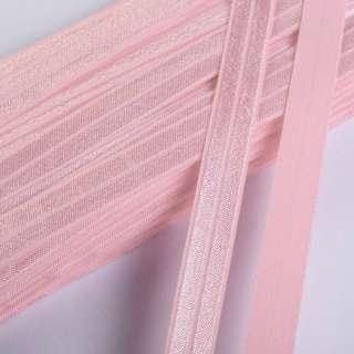 косая бейка стрейч светло-розовая 15 мм
