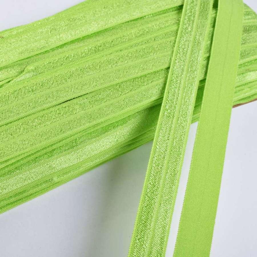 косая бейка стрейч салатовая 15 мм