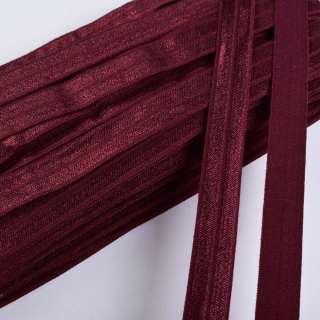 косая бейка стрейч бордовая 15 мм