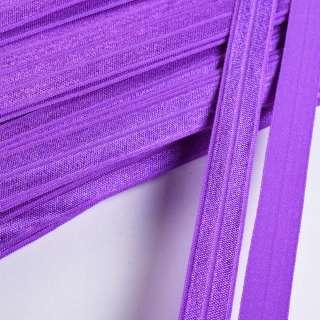 косая бейка стрейч фиолетовая 15 мм