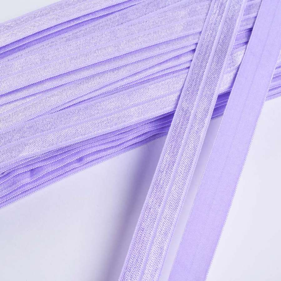 косая бейка стрейч лаванда 15 мм