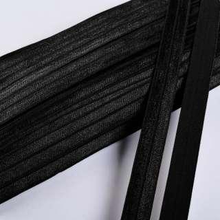 косая бейка стрейч черная 15 мм