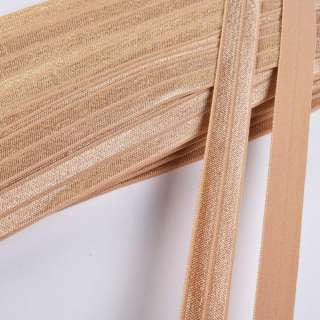косая бейка стрейч бежевая 15 мм
