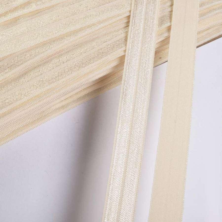 косая бейка стрейч молочная 15 мм